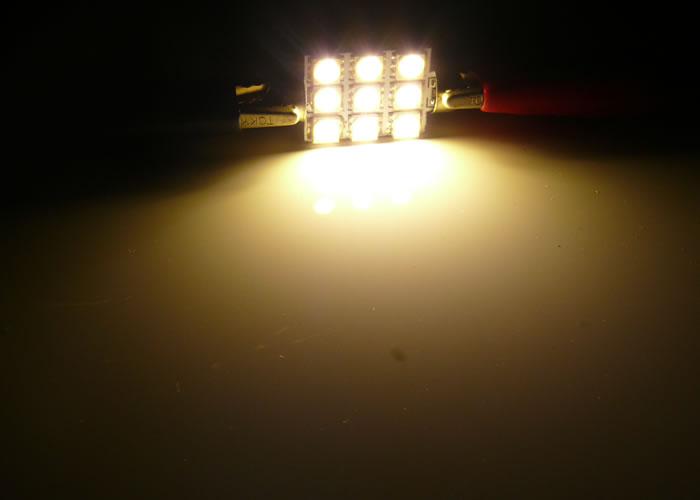 画像2: 2chip SMD9連 39mm 電球色