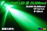 高輝度LED 緑色 MAX25,000mcd