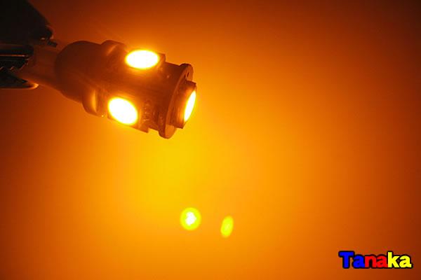 画像1: T10 ウエッジ球 SMD 3チップ×5連LED 黄色