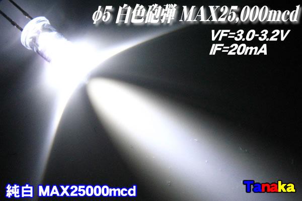 画像1: 高輝度LED 白色 25000mcd