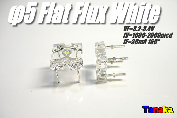 画像1: 白色 フラットFluxled 広角 2000mcd